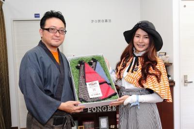 薩摩こんしぇるじゅ。「大島紬の羽織」引渡し式画像