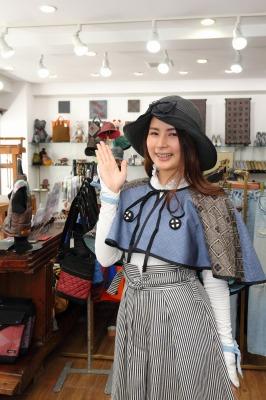 薩摩こんしぇるじゅ。×大瀬商店 大島紬羽織青バージョン画像
