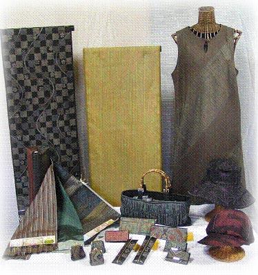 大島紬反物、大島紬帽子、大島紬バッグ、財布、名刺入れ、大瀬商店取扱商品