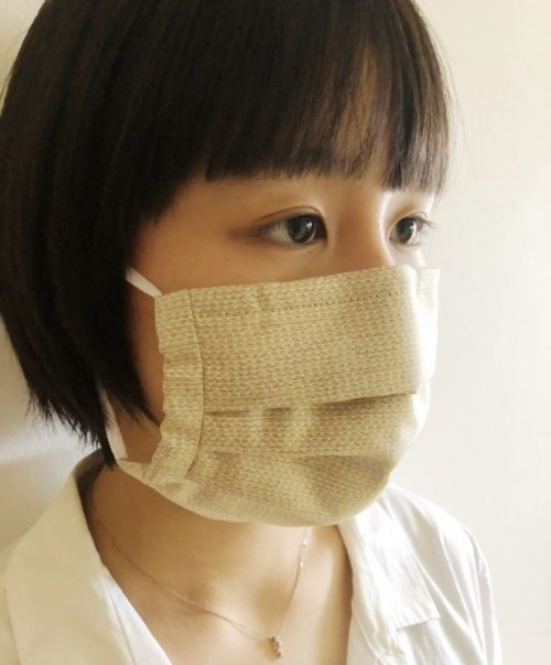 他の写真1: 大島紬 プリーツマスク
