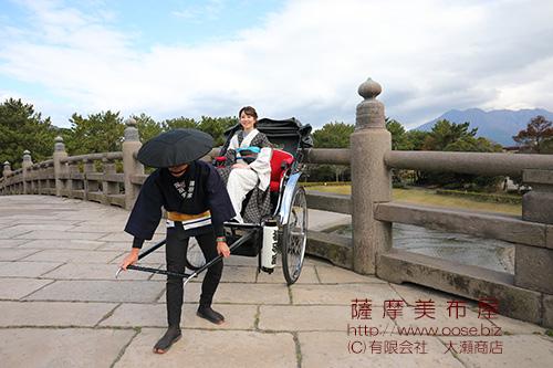 本場大島紬のレンタル着物を着て鹿児島散策画像1