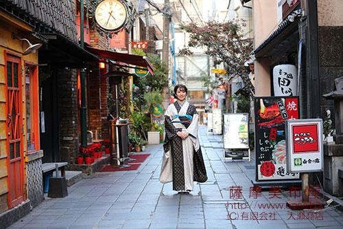 本場大島紬のレンタル着物を着て鹿児島散策画像2